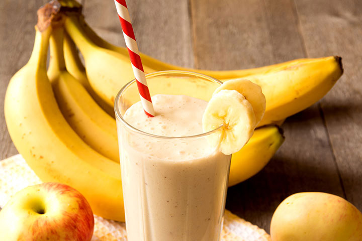Banana Apple Chia Seed Smoothie