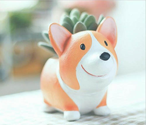 Corgi Planter Pot Miniature for Succulents