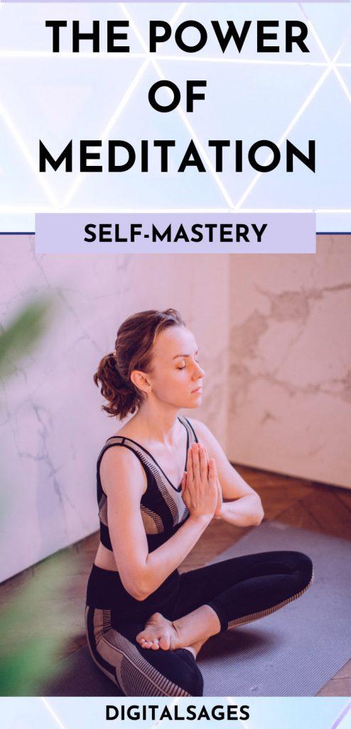Power of Meditation Pinterest