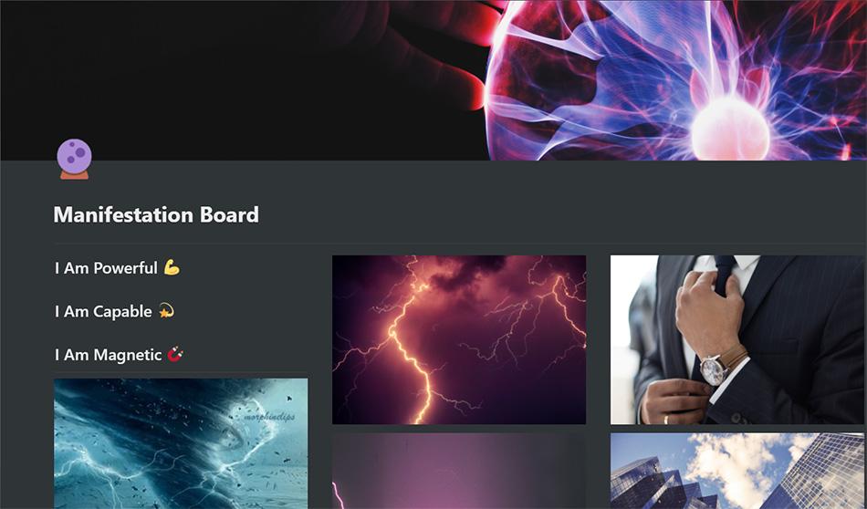 Notion Vision Board