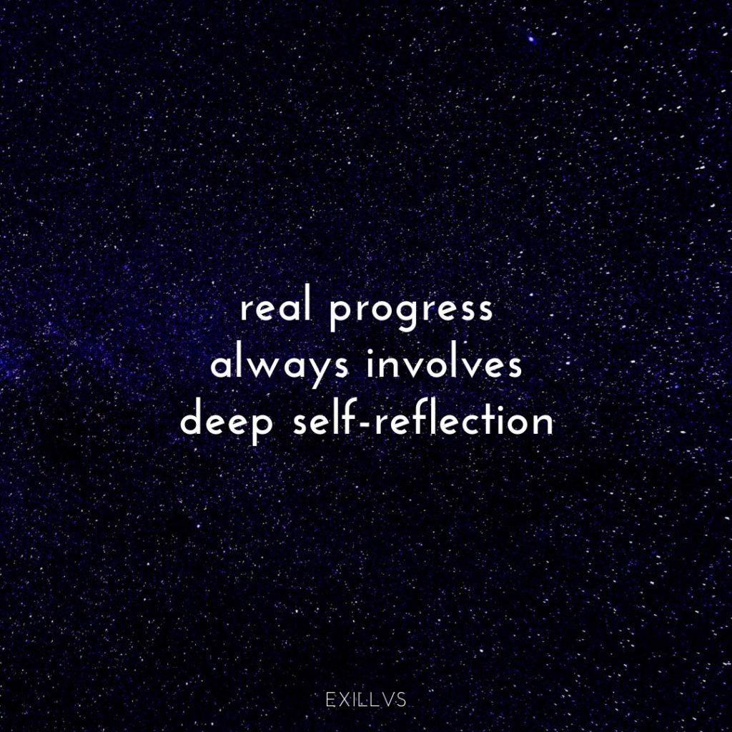 Spiritual Quote Real Progress